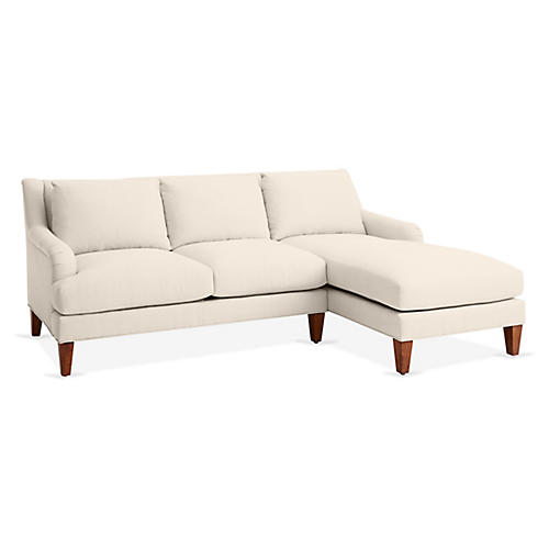 Merrimack Right-Facing Sectional, Dune Linen