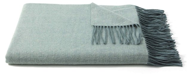 Herringbone Throw, Meadow