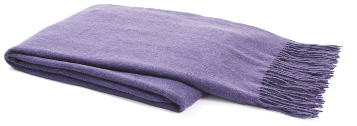 Plain-Weave Throw, Purple