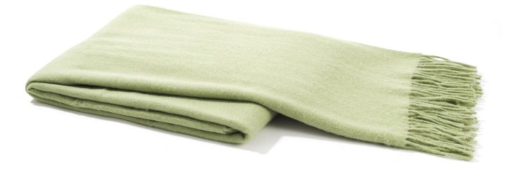 Weave Cashmere-Blended Throw, Sage