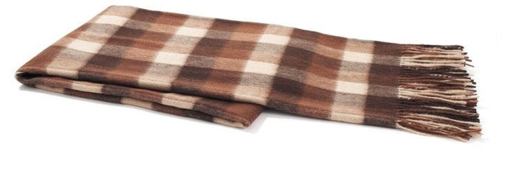 Buffalo Check Throw, Brown