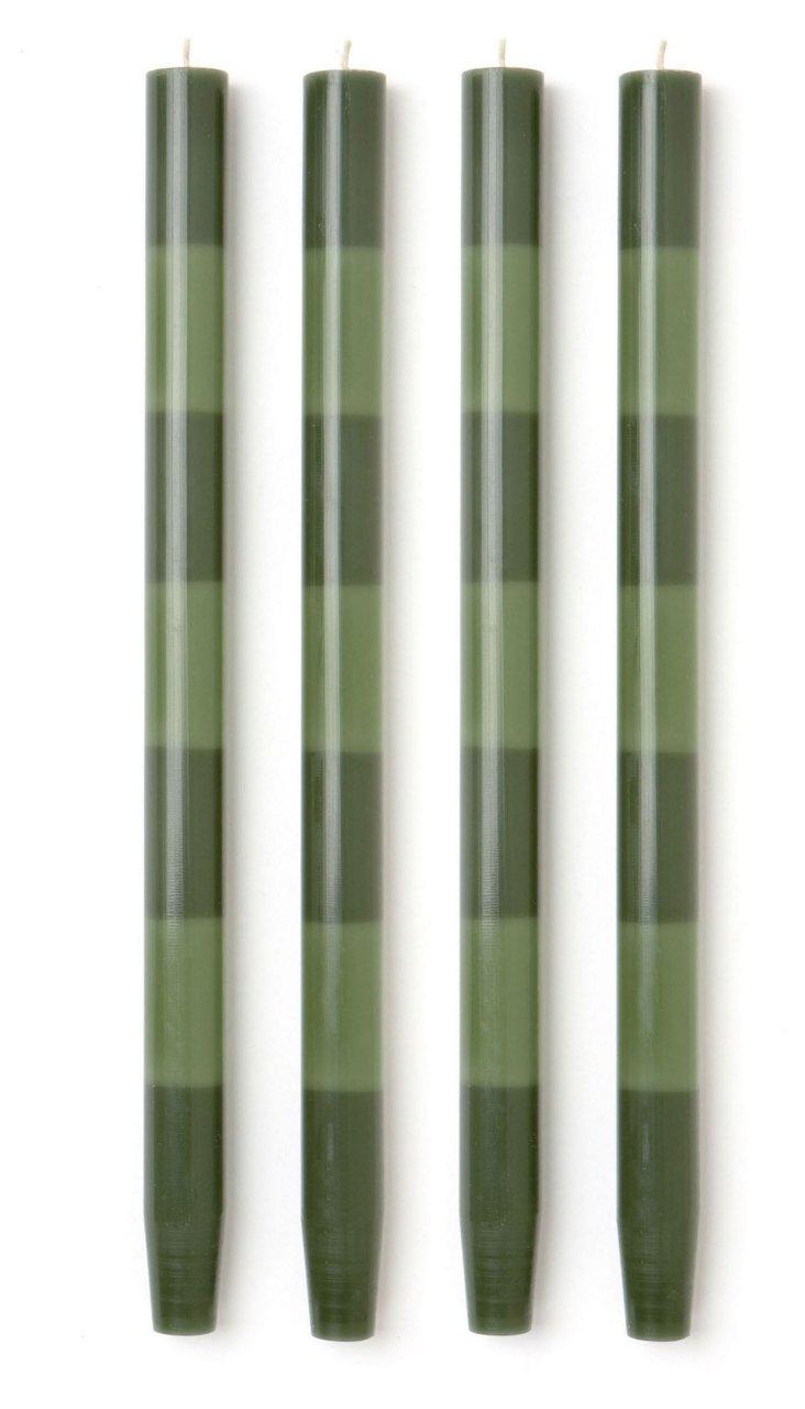 S/4 Wedgwood-Jade Tapers
