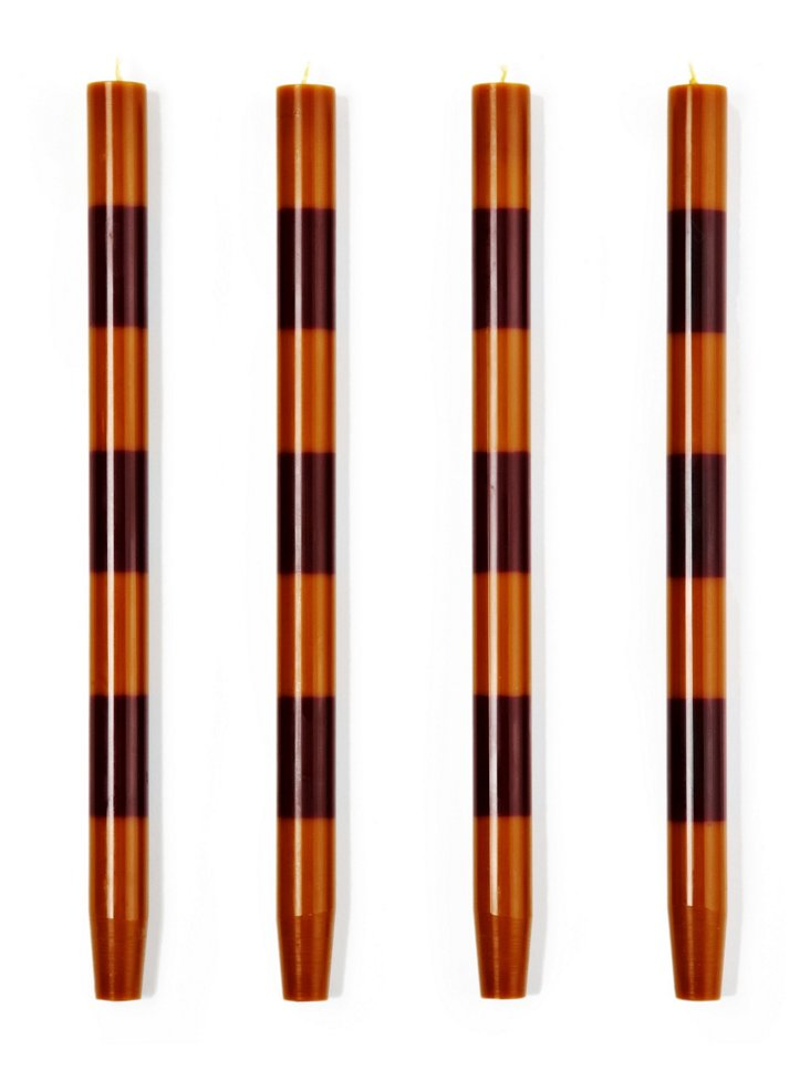 S/4 Amber-Oxblood Tapers