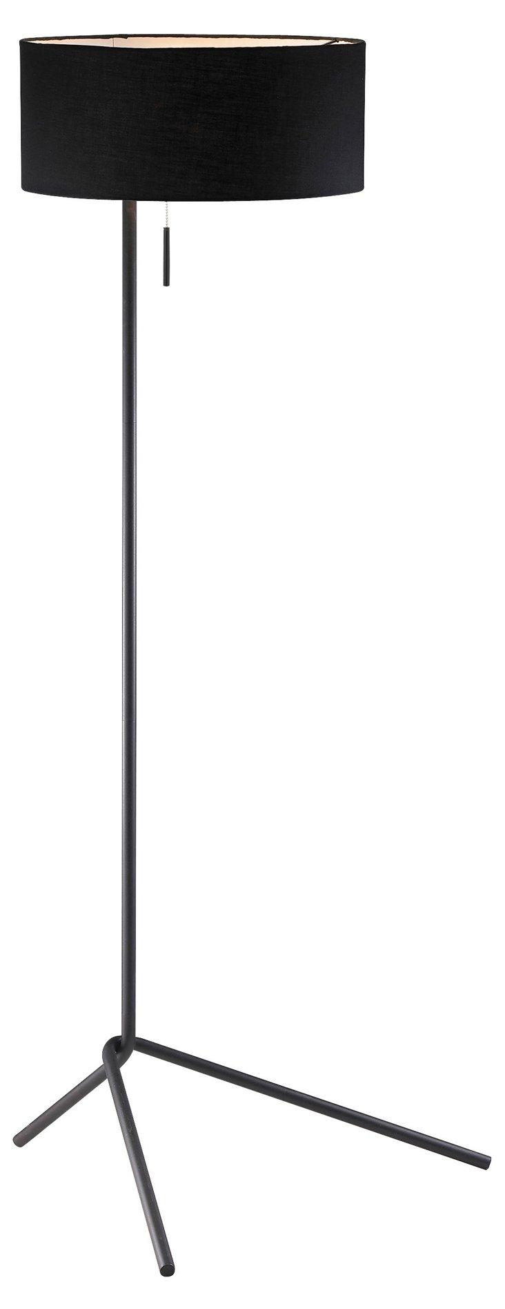 Twixt Steel Floor Lamp, Black