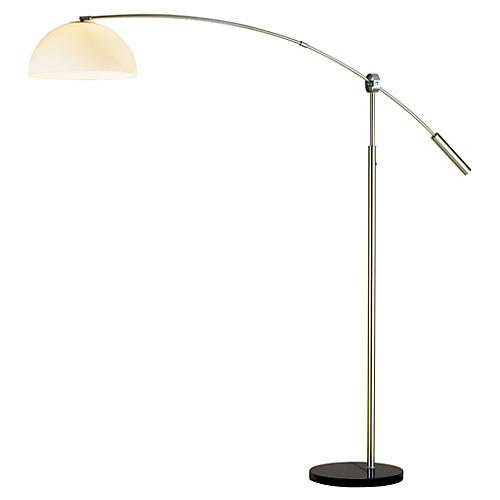 Outreach Arch Lamp, Satin Steel