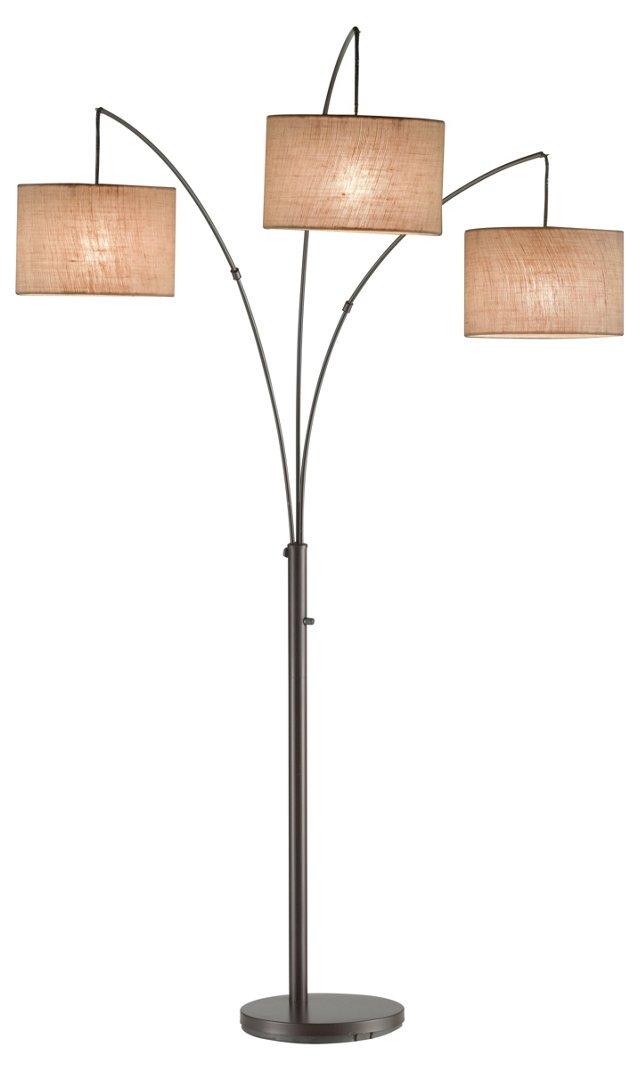 Trinity Arc Floor Lamp, Antiqued Bronze