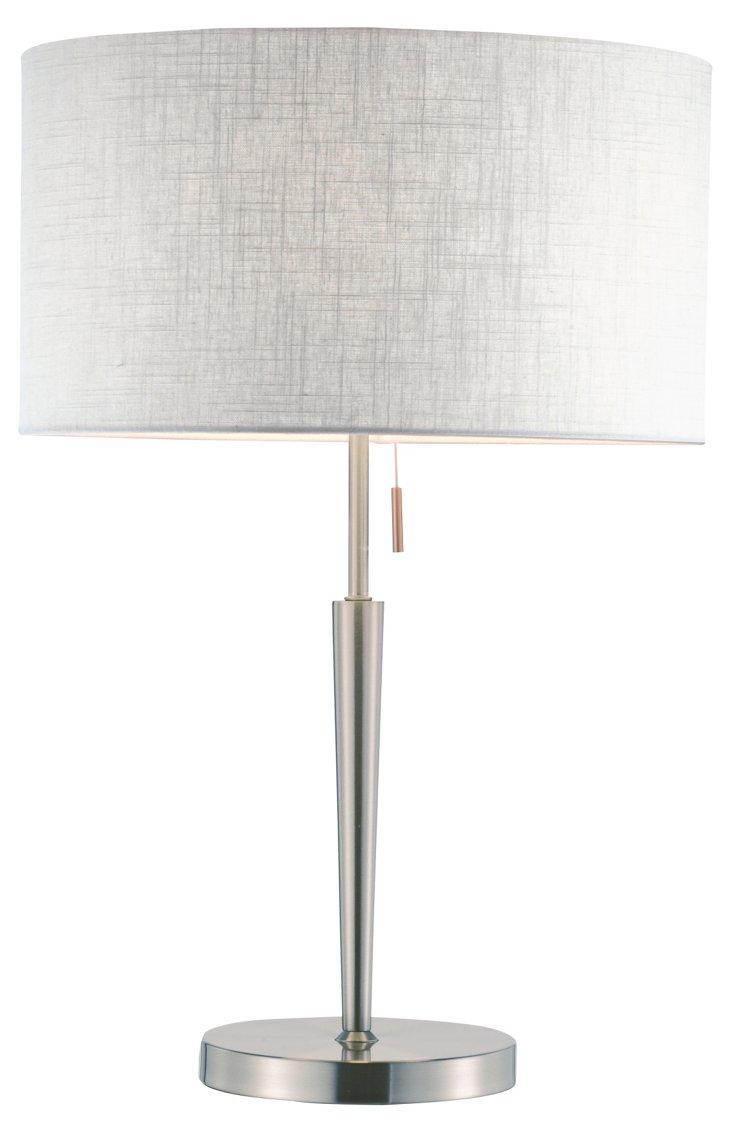 Hayworth Table Lamp, Satin Steel
