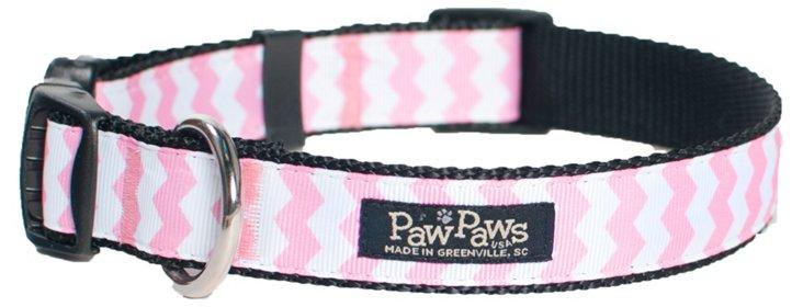 Chevron Collar, Pink