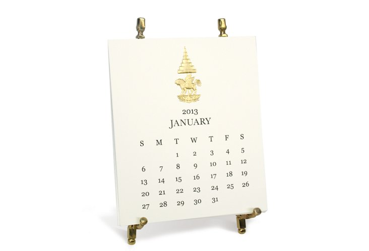 2013 Classic Calendar Set with Easel
