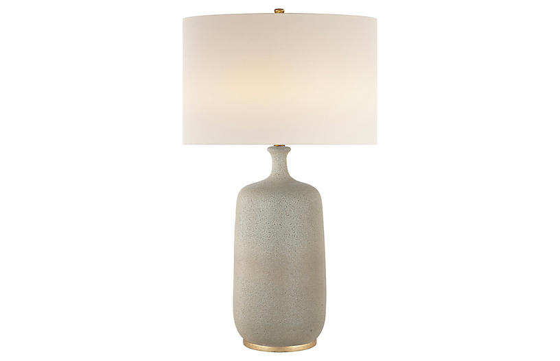 Culloden Table Lamp, Volcanic Ivory