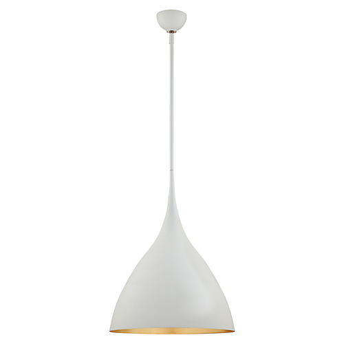Agnes Medium Pendant, Plaster White