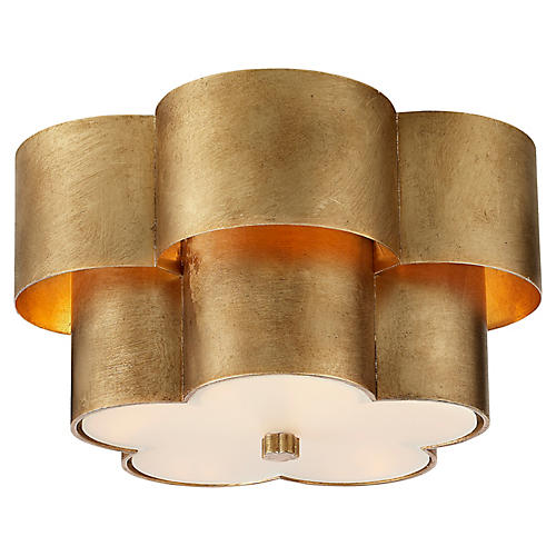Arabelle Flush Mount, Gild