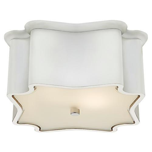 Bolsena Deco Flush Mount, Plaster White