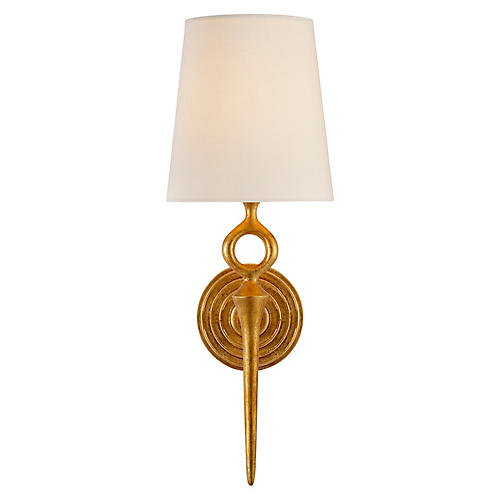 Bristol Single Sconce, Gild