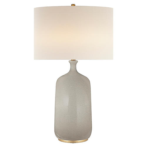 Culloden Table Lamp, Bone Craquelure