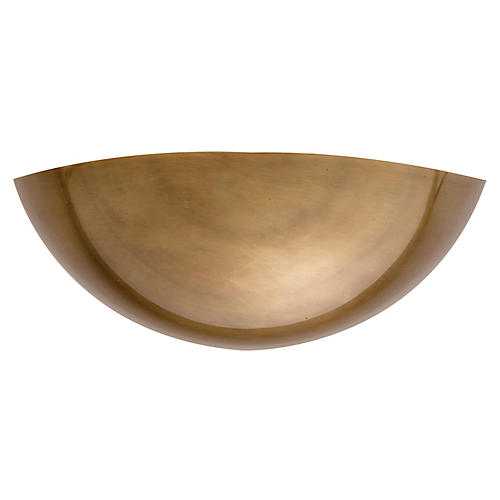 Iriving Sconce, Antiqued Brass