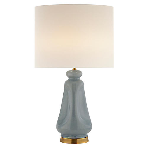 Kapila Table Lamp, Polar Blue Crackle