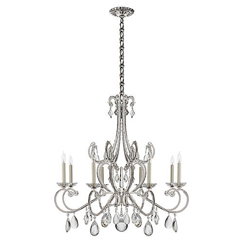 Montmartre Chandelier, Polished Nickel
