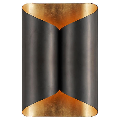 Selfoss Sconce, Dark Bronze/Gild