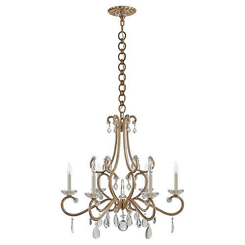 Montmartre Medium Chandelier, Brass/Crystal