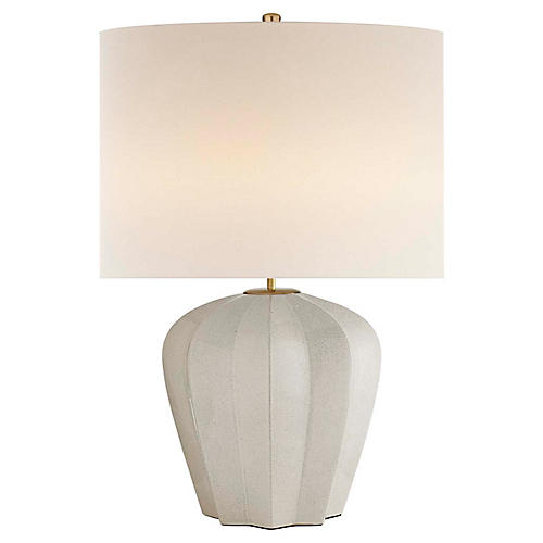 Pierrepont Medium Table Lamp, Bone Craquelure