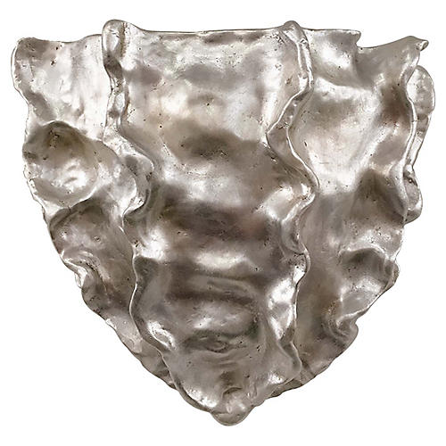 Benit Small Washer Sconce, Silver Leaf