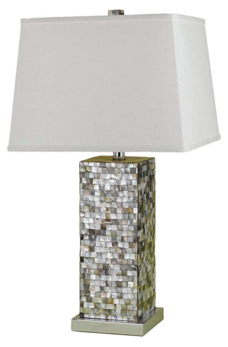Sahara Table Lamp, Silver