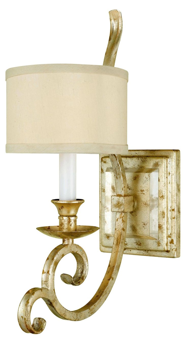 Lucy 1-Light Wall Sconce, Soft Gold