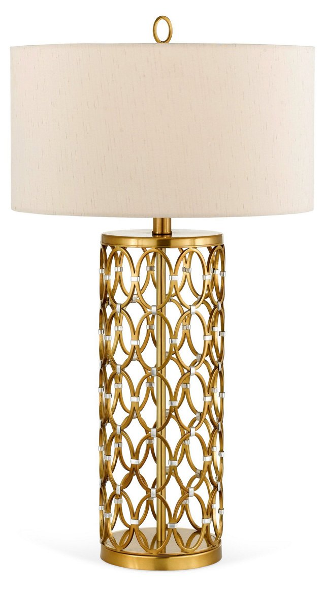 Cosmo Table Lamp, Satin Brass