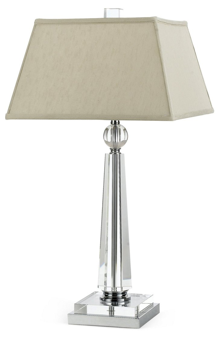 Cluny Table Lamp, Smokey Taupe
