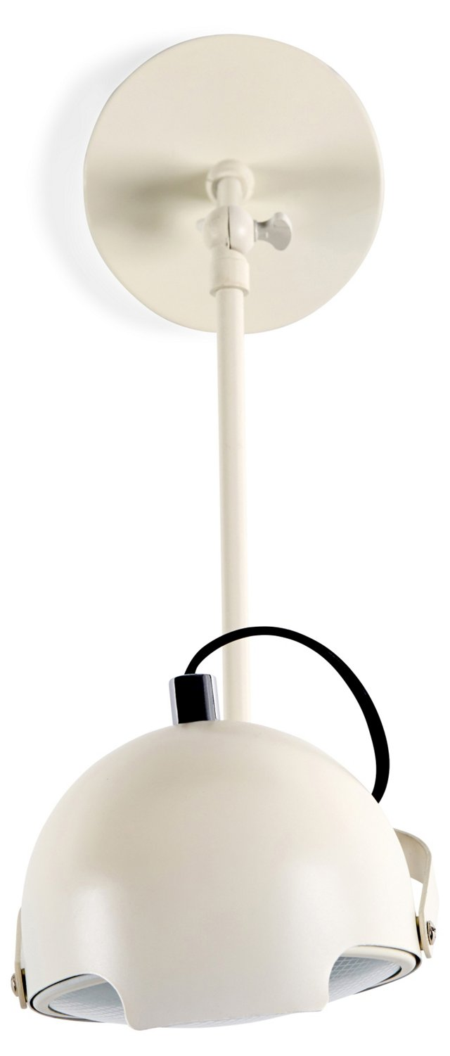 Cooper Drop 1-Light Wall Sconce, White