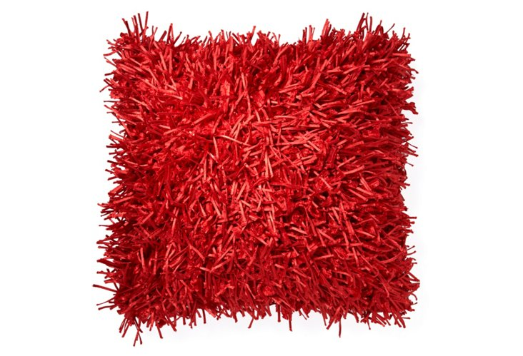 Mulberry Plush 20x20 Pillow, Red