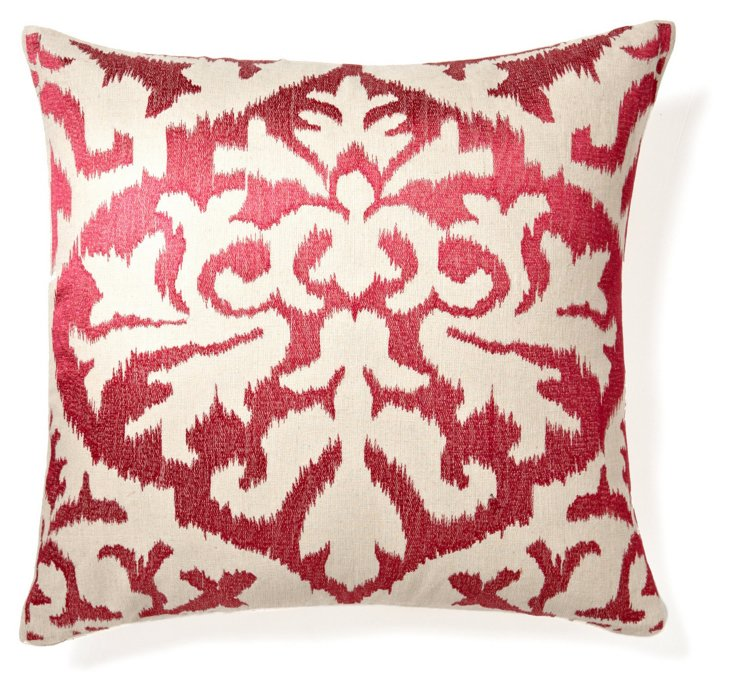 Ikat 20x20 Pillow, Plum