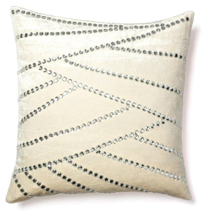 Asymmetric 20x20 Pillow, Ivory