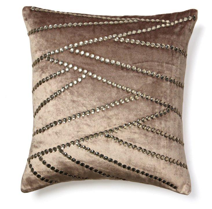 Asymmetric 20x20 Pillow, Gray