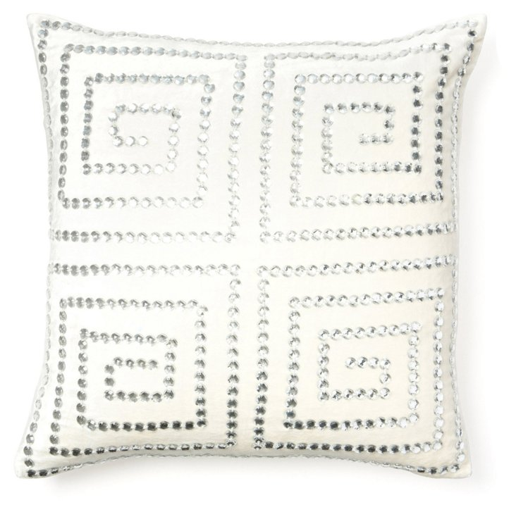 Greek Key 20x20 Pillow, Ivory