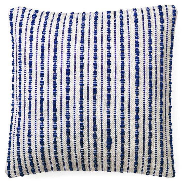Splash 22x22 Cotton-Blend Pillow, Blue