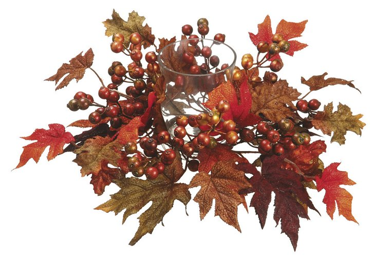 "17"" Maple & Berry Centerpiece, Faux"