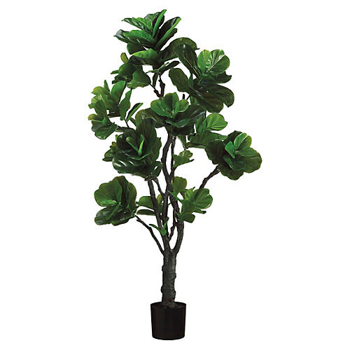 6' Eva Fiddle Planter, Faux