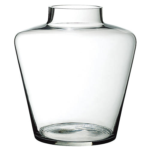 "12"" Georgia Vase, Clear"