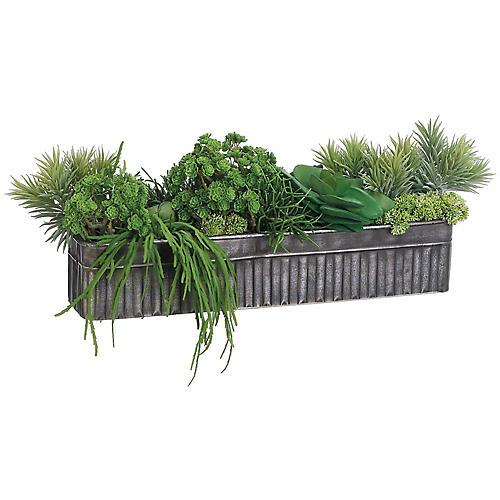 """33"""" Succulent Mix Plant, Faux"""