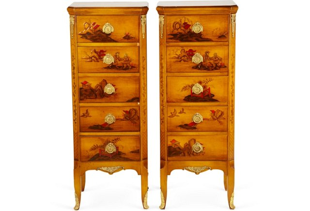 Bron Chest of Drawers, Pair