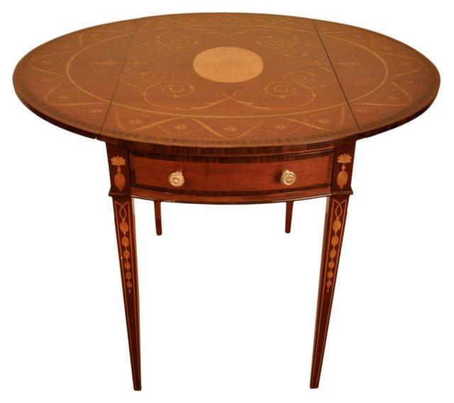 Regency Drop-Leaf Pembroke Table, Brown