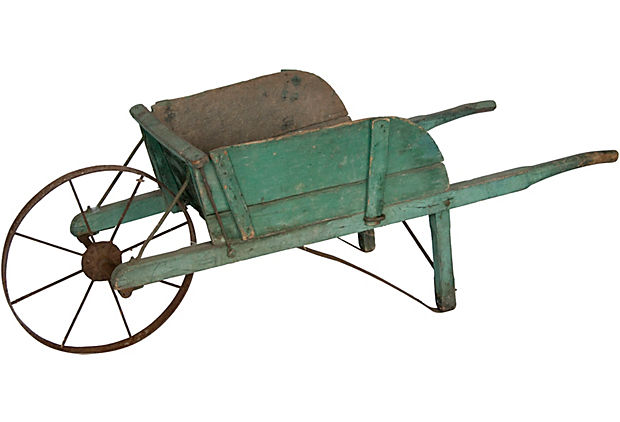 Vintage Garden Wheelbarrow