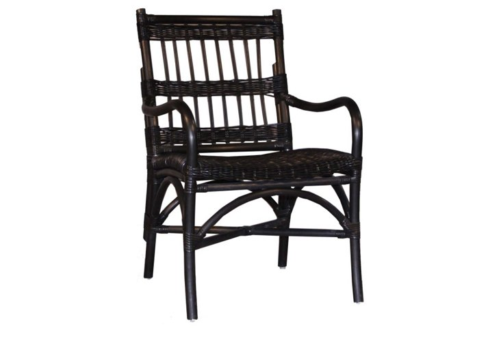 Outdoor Dining Armchair, Black