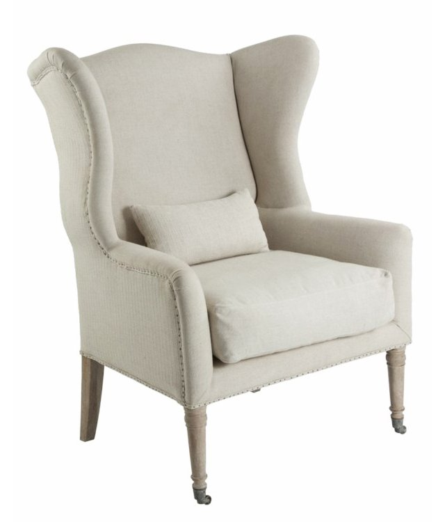 Lisbon Wingback Accent Chair, Dove Gray