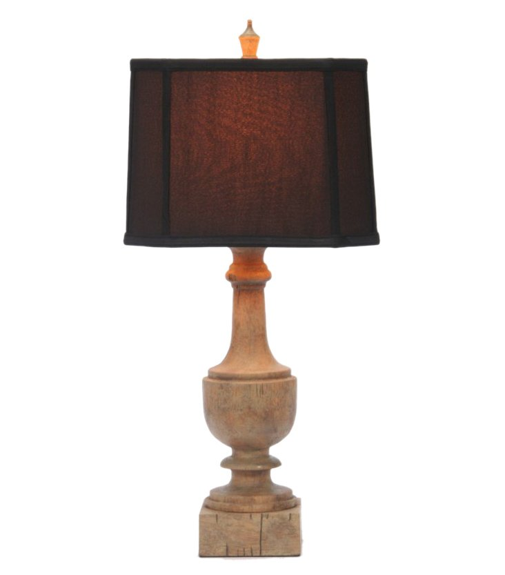 Balustrade Table Lamp, Oak