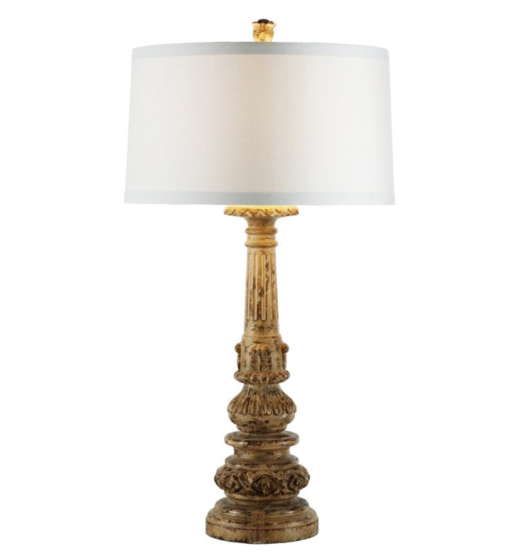 Acanthus Leaf Buffet Lamp