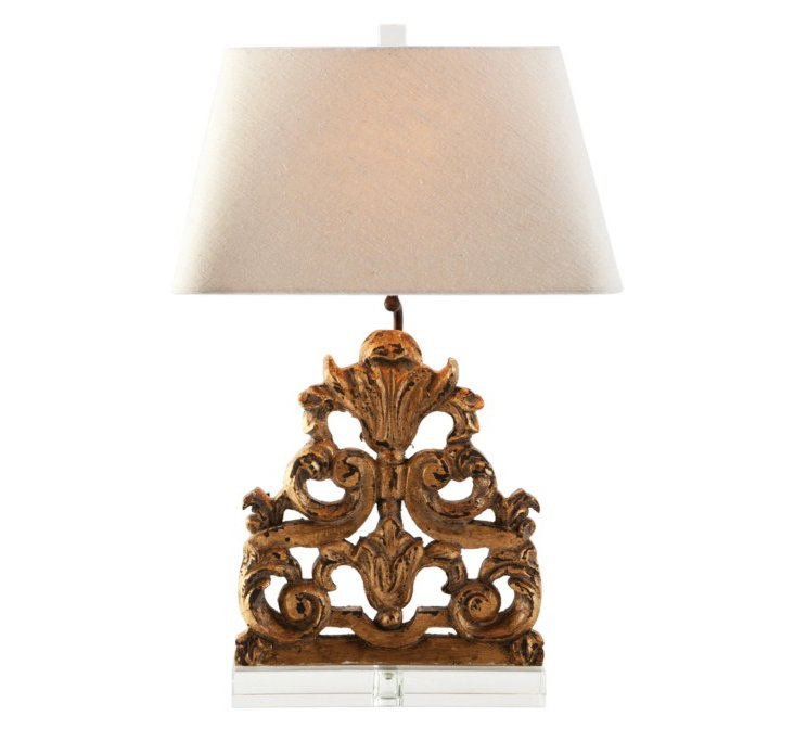 Geraldine Table Lamp, Weathered Gold