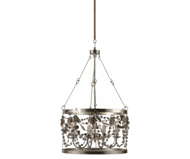 Garland 4-Light Pendant, Rustic Silver